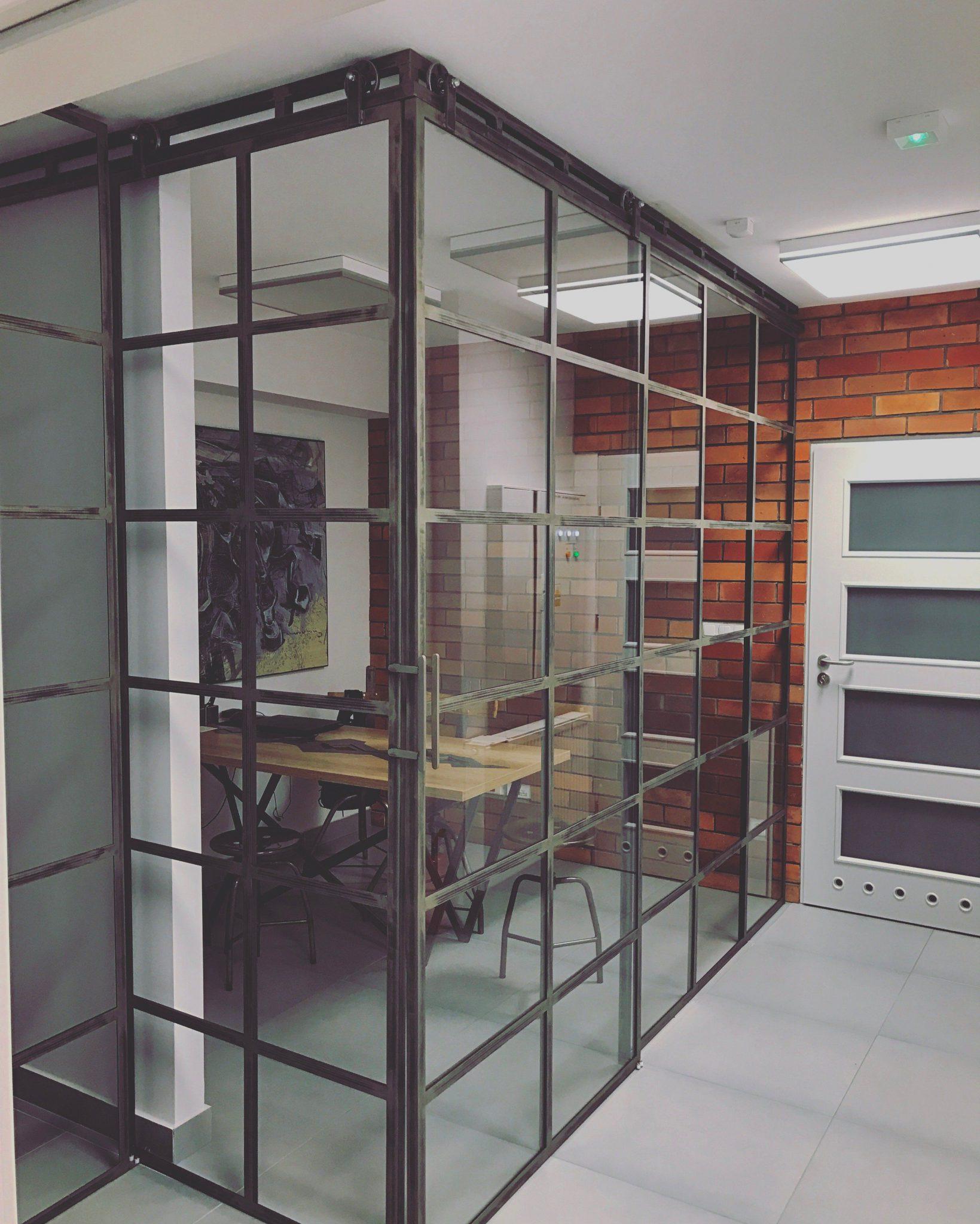 Szklane drzwi przesuwne Icon Loft 6