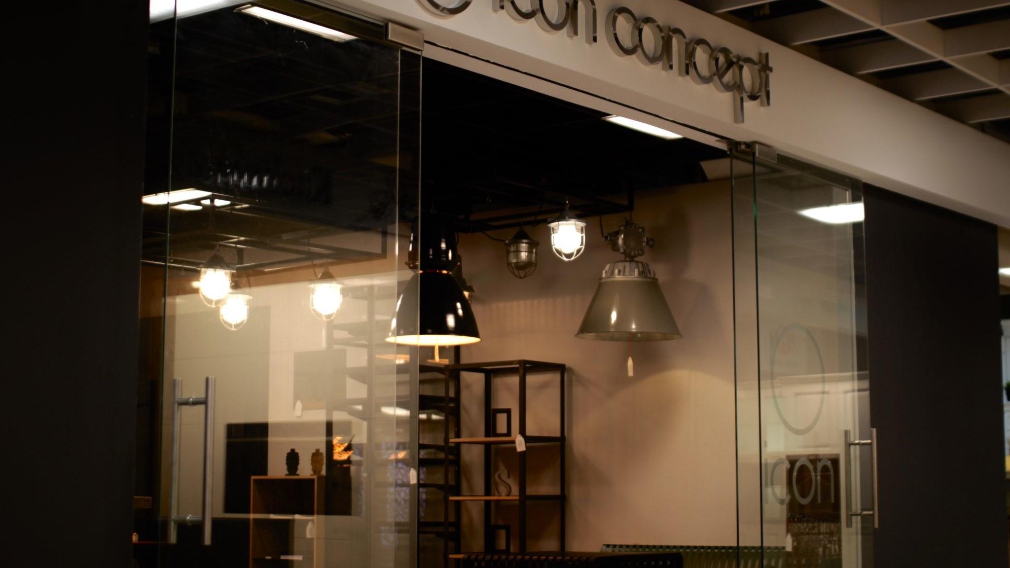 showroom Wrocław Icon Concept design, nowy showroom icon concept, meble, design, drzwi loftowe wroclaw
