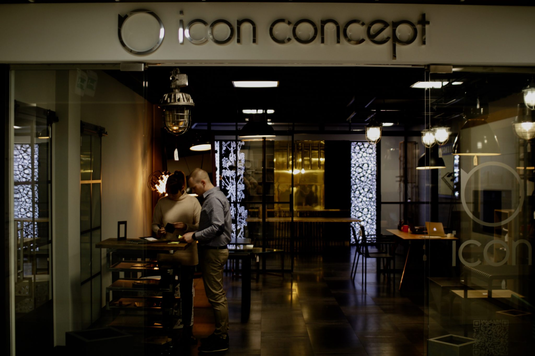 showroom Wrocław Icon Concept design, nowy showroom icon concept, meble, design, drzwi loftowe wroclaw