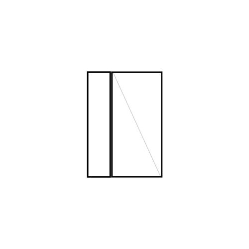 drzwi jednoskrzydłowe rozwierne z panelem bocznym