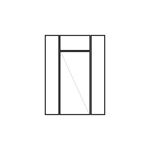 drzwi podwójne rozwierne dwoma panelami bocznymi