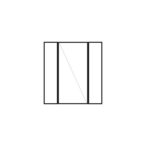 drzwi jednoskrzydłowe rozwierne z dwoma panelami bocznymi