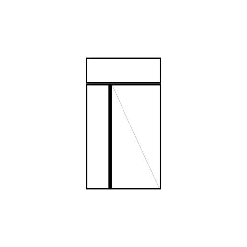 drzwi jednoskrzydłowe rozwierne z naświetlem i panelem bocznym