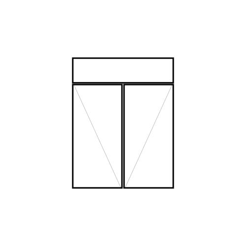drzwi podwójne rozwierne z naświetlem