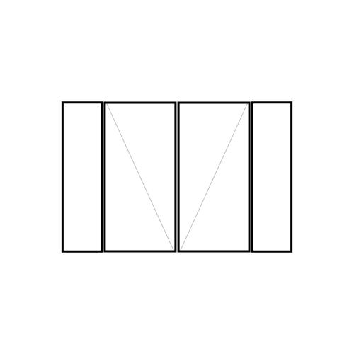 drzwi podwójne rozwierne z dwoma panelami bocznymi