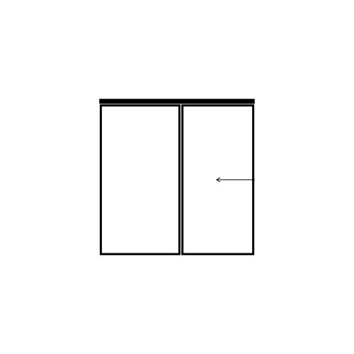 drzwi jednoskrzydłowe przesuwne z panelem bocznym