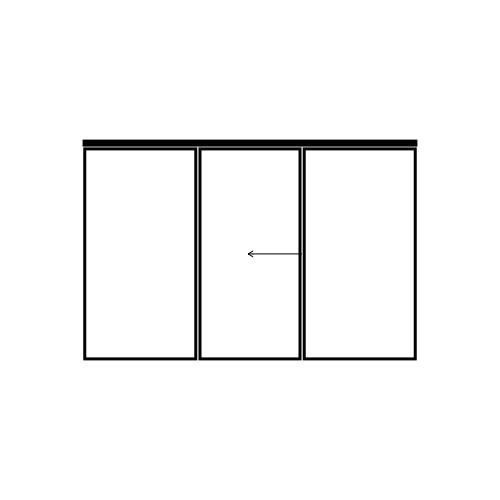drzwi jednoskrzydłowe przesuwne z dwoma panelami bocznymi