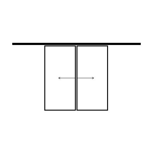 drzwi dwuskrzydłowe przesuwne