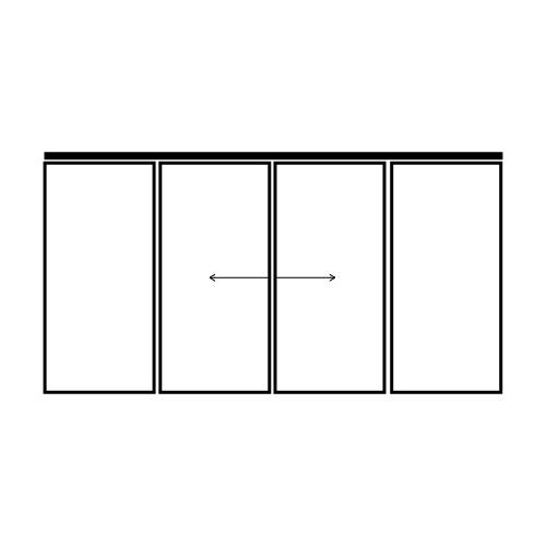 drzwi dwuskrzydłowe przesuwne z dwoma panelami bocznymi