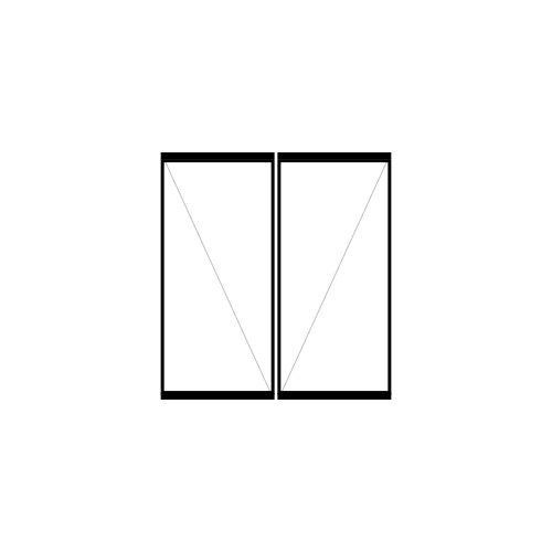 drzwi dwuskrzydłowe rozwierne pivot